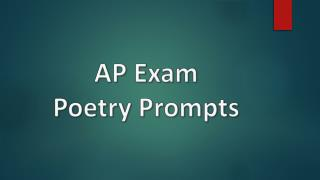 AP Exam Poetry Prompts