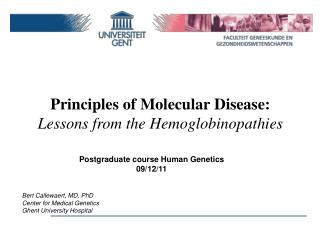 Principles  of  Molecular Disease : Lessons from  the  Hemoglobinopathies