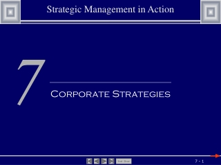 Chapter 10:  How  to  Evaluate  a Diversified  Company s  Strategy