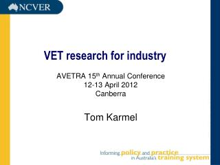 VET research for industry