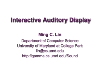 Auditory display