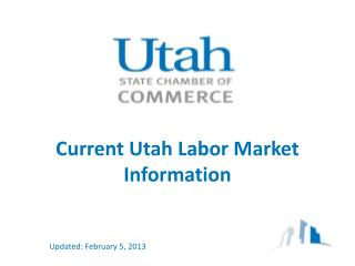 Current Utah Labor Market Information