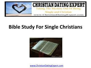 Bible Study for Single Christians