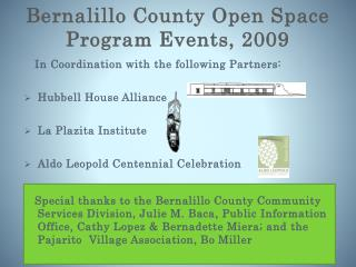 Bernalillo County Open Space Program Events, 2009
