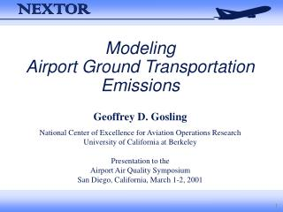 Modeling Airport Ground Transportation Emissions