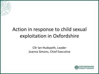 Child sexual exploitation