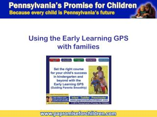 Using the Early Learning GPS  with families