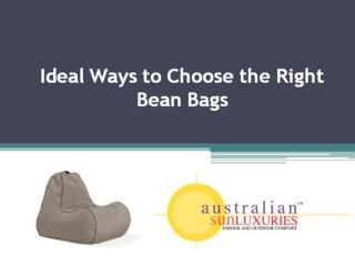 Ideal ways to choose right bean bags
