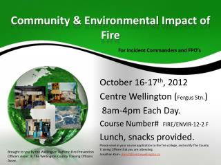 Community & Environmental Impact of Fire