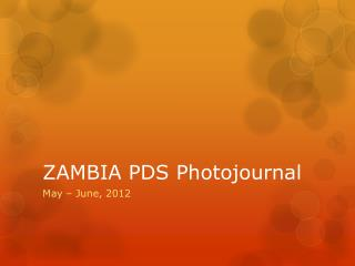 ZAMBIA PDS  Photojournal