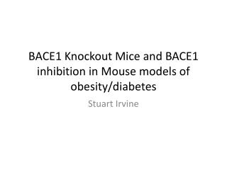 BACE1 Knockout Mice and BACE1 inhibition in Mouse models of obesity/diabetes