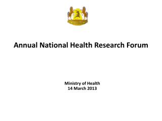 Annual National Health Research Forum