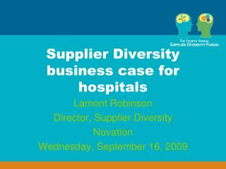 Supplier Diversity business case for hospitals