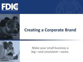 Creating a Corporate Brand