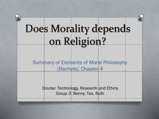 does religion equal morality Chapter 1 - what is morality general overview: how does morality differ from aesthetics, etiquette, law, religion or custom 5 where does morality.