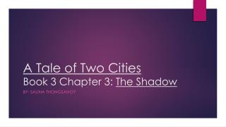 A Tale of Two Cities Book 3 Chapter 3:  The Shadow