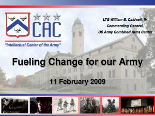 Fueling Change for our Army  11 February 2009