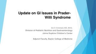 Update on GI Issues in Prader-Willi Syndrome