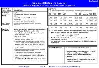 Enclosure 3 Trust Board Meeting – 7th October 2010