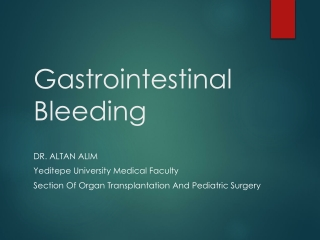 Lower Gastrointestinal Bleeding