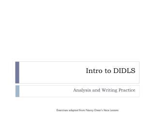 Intro to DIDLS