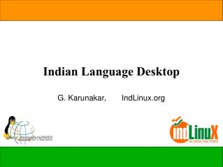 Indian Language Desktop