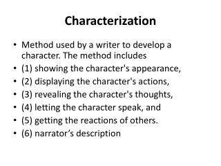 ppt characterization and steal method powerpoint