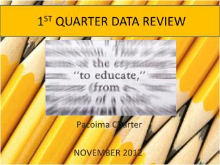 1 ST QUARTER  DATA REVIEW