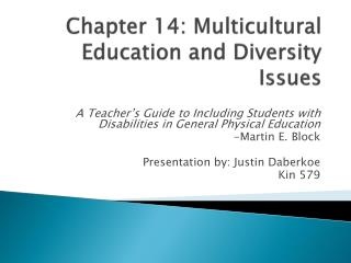 Chapter 14: Multicultural Education and Diversity Issues