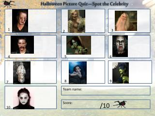 Halloween Picture Quiz – Spot the Celebrity