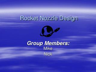 Rocket Nozzle Design