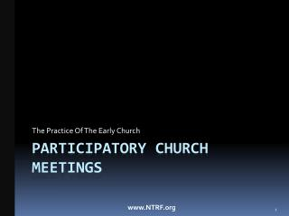 Participatory church meetings