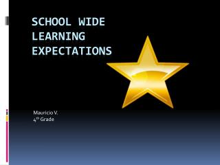 School wide learning expectations