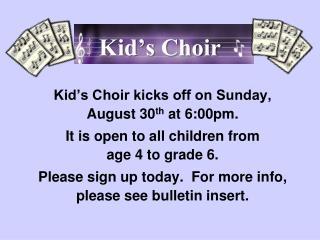 Kid's Choir