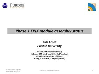 Phase 1 FPIX module assembly status