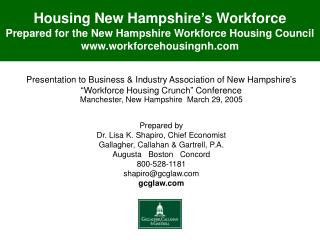 Presentation to Business & Industry Association of New Hampshire's