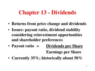 Chapter 13 - Dividends