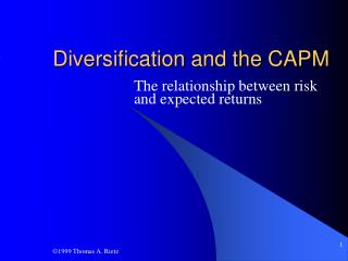 Diversification and the CAPM