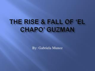 The Rise & Fall of 'El  Chapo ' Guzman