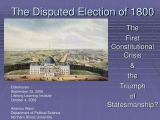 The Disputed Election of 1800