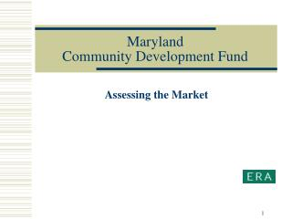 Maryland Community Development Fund