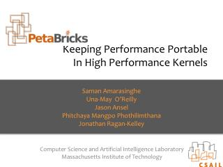 Keeping  Performance Portable  In H igh  P erformance  K ernels