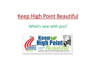 Keep High Point Beautiful