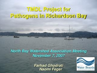 TMDL Project for  Pathogens in Richardson Bay