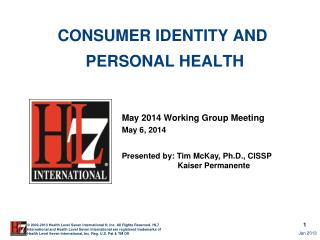 Consumer identity and  Personal Health