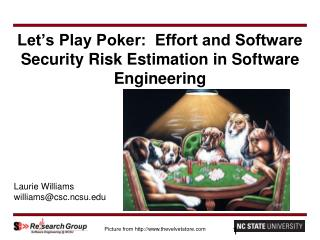 Let's Play Poker:  Effort and Software Security Risk Estimation in Software Engineering