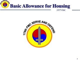 Basic Allowance for Housing