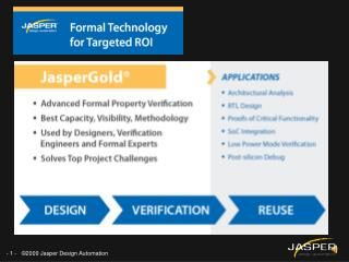 JasperGold  for Targeted ROI