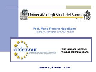 THE  KICK-OFF  MEETING  PROJECT STEERING BOARD