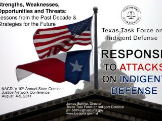 Texas Task Force on  Indigent Defense